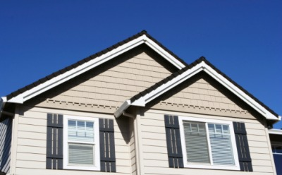 The top exterior of a home after Gutter cleaning in Pekin IL