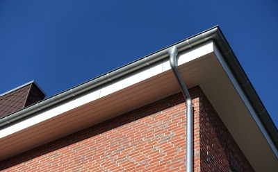 The corner of a home with Gutters in East Peoria IL